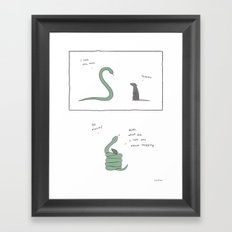 I Love You, Man.  Framed Art Print