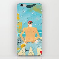 murray iPhone & iPod Skins featuring Thrill Murray by Nicholas Stevenson