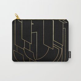 Gold Armor Letter U Carry-All Pouch