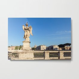 Angel with the Crown of Thorns at the Sant'Angelo bridge - Rome Metal Print