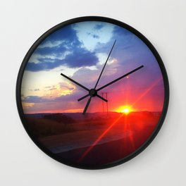 Sunset in South Africa Wall Clock