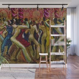 African American Masterpiece 'Shore Leave' by Ellis Wilson Wall Mural