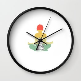 """Perfect Relaxing Tee For Yoga Persons """"I'm Most Love And Light An A Little Go Fuck Yourself"""" T-shirt Wall Clock"""