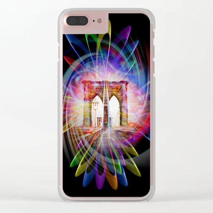 Abstract perfektion - Brooklyn Bridge Clear iPhone Case
