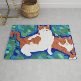 Two Cats Rug