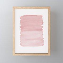 Blush Abstract Minimalism #1 #minimal #ink #decor #art #society6 Framed Mini Art Print