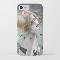 nurse iPhone & iPod Cases featuring The Nurse by Dolce B.