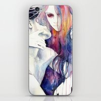 hair iPhone & iPod Skins featuring wakeful by agnes-cecile