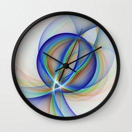 Colorful Design, Modern Fractal Art Wall Clock