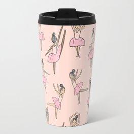 Ballet dancers cute girls nursery kids room gifts for dance lovers blush pink Travel Mug