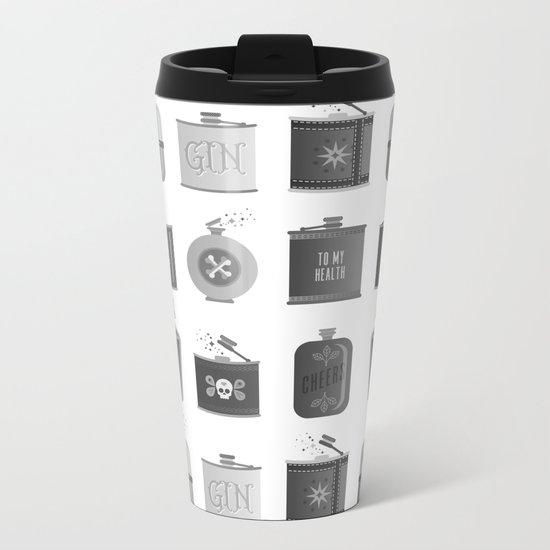 Flask Collection – Black Palette Metal Travel Mug