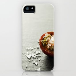 Fresh grape tomatoes with salt iPhone Case