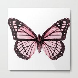 Monarch Butterfly Pink Dream Metal Print