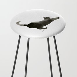 I Love Cats No.1 by Kathy Morton Stanion Counter Stool