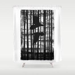 Hugin & Munin Shower Curtain