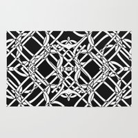 celtic Area & Throw Rugs featuring Celtic Art by Alice Gosling