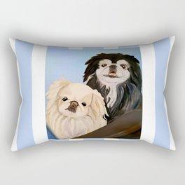Peke Tootise and Manny Rectangular Pillow