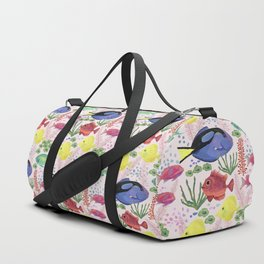 Reef Fish (pink background) Duffle Bag