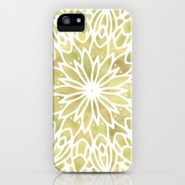 Mandala Yellow Sunflower iPhone Case