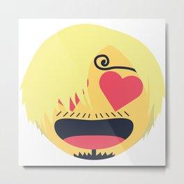 Sanji Emoji Design Metal Print