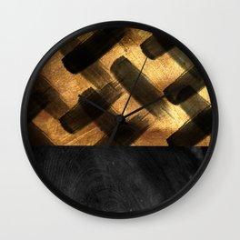 BLACK AND GOLD Wall Clock