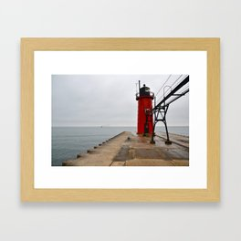 South Haven Lighthouse Framed Art Print