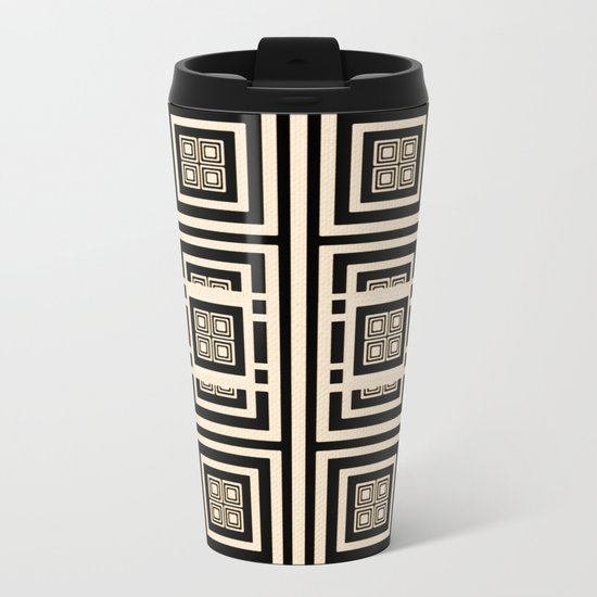 Xingu Pattern Metal Travel Mug