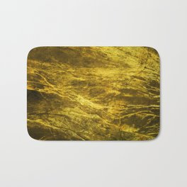 Classic Vintage Gold Faux Marble With Gold Veins Bath Mat