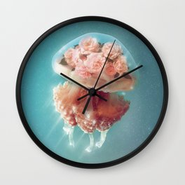 Floral Jellyfish Wall Clock