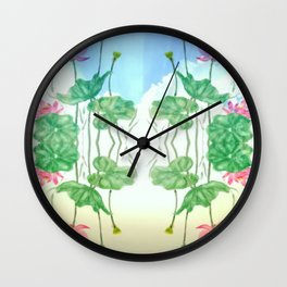 Lotus in the Skies Wall Clock