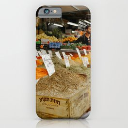 Spices traditional market in Tel Aviv, Israel | Colorful souk travel photography | Fine art print iPhone Case