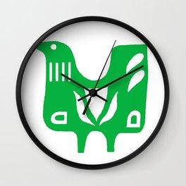 Scandinavian folk art bird Wall Clock