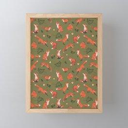 Fox Pattern (large) Framed Mini Art Print