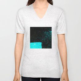 Black & Blue Unisex V-Neck