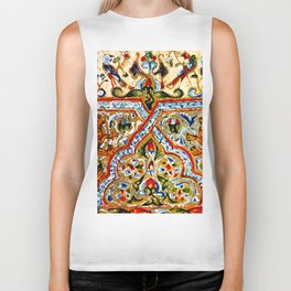 old motives / colorful / Armenian  Biker Tank