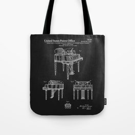 Piano Patent - Black Tote Bag