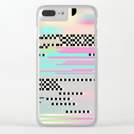 Glitch art effect Clear iPhone Case