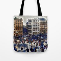 The Spanish Steps 4138 - Rome, Italy Tote Bag