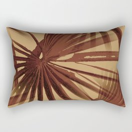 Burgundy and Coffee Tropical Beach Palm Vector Rectangular Pillow