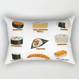 Sushi Chart Rectangular Pillow