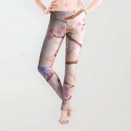 Cherry Blossoms & Butteflies Origami Leggings