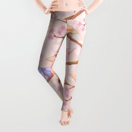 Cherry Blossoms & Butteflies Origami Leggings
