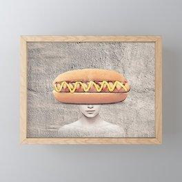 Hotdog vision collage Framed Mini Art Print
