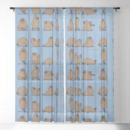 Walrus Yoga Sheer Curtain