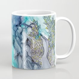 Remembering_ abstract painting , alcohol ink painting Coffee Mug