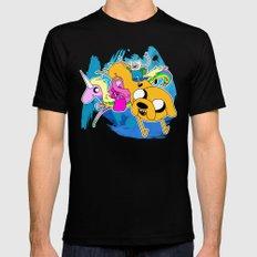 Adventure Time MEDIUM Black Mens Fitted Tee