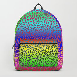 Wild Thing Rainbow Leopard Print Backpack