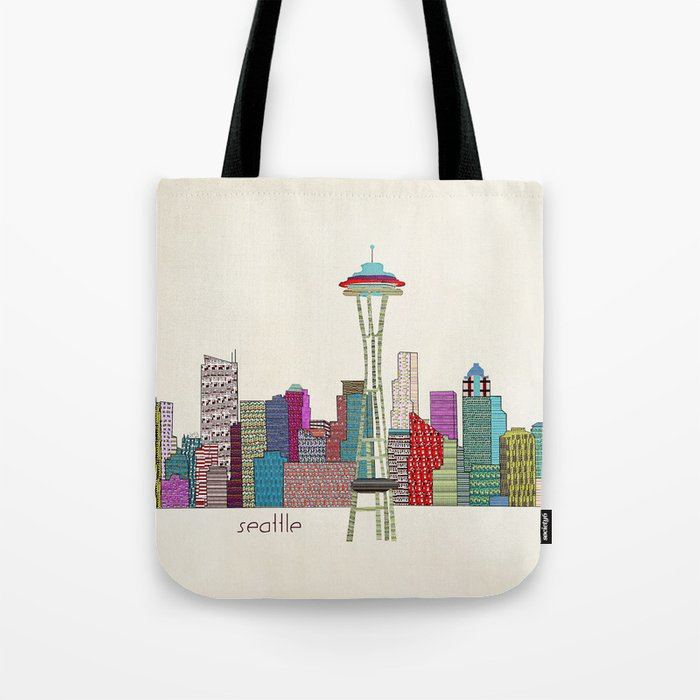 Seattle city  Tote Bag