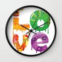 cartoon Wall Clocks featuring cartoon by Cheese Alien