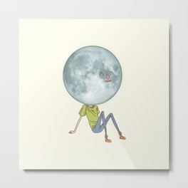 moonface Metal Print